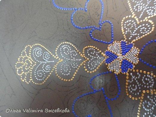 Декор предметов Роспись Тарелка Сердце Востока МК для начинающих Краска Стекло фото 8