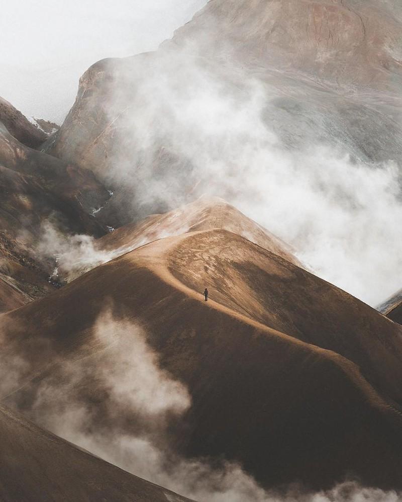 15. Горы в тумане виды, исландия, красота, фото