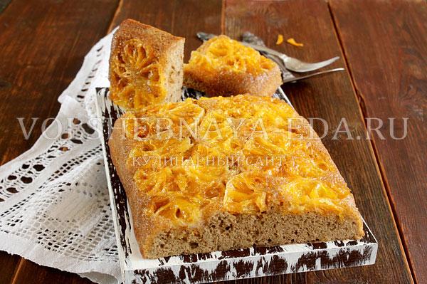 Пирог с цедрой апельсина рецепт