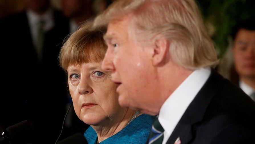 Трамп обсудил с Меркель ситуацию на востоке Украины