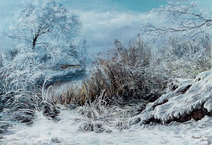 зимние пейзажи Ольга Дидык - 01