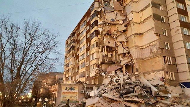 В Ижевске обрушился подъезд жилого дома, в котором проживали 99 человек
