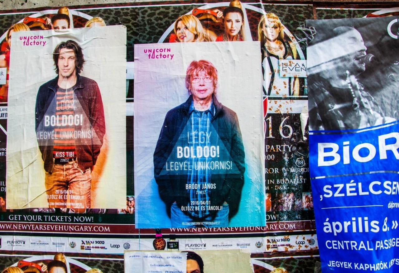 Реклама концертов в Будапеште