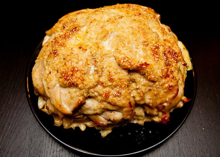 куриная грудка слоями в духовке