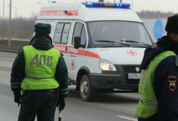 27 машин столкнулись на Минском шоссе на голом льду
