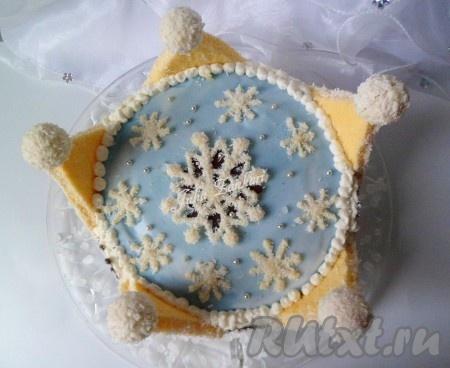 Фото торта снежная королева