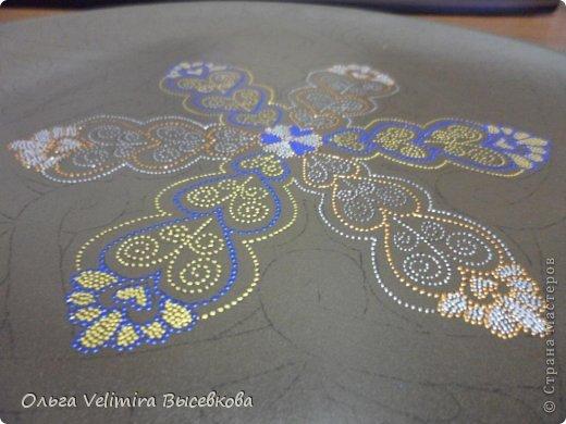 Декор предметов Роспись Тарелка Сердце Востока МК для начинающих Краска Стекло фото 9