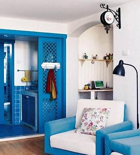 Синие двери в интерьере фото