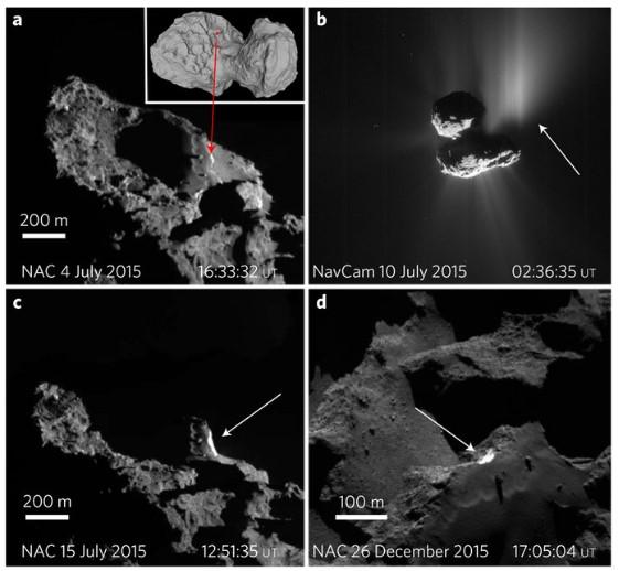 Осыпь обнажила блестящее нутро кометы Чурюмова — Герасименко