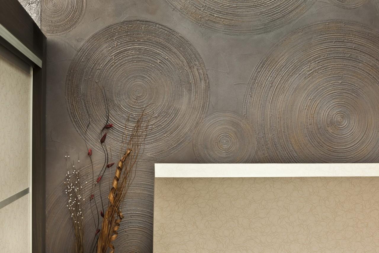 Декор стены на кухне шпаклевкой своими руками фото