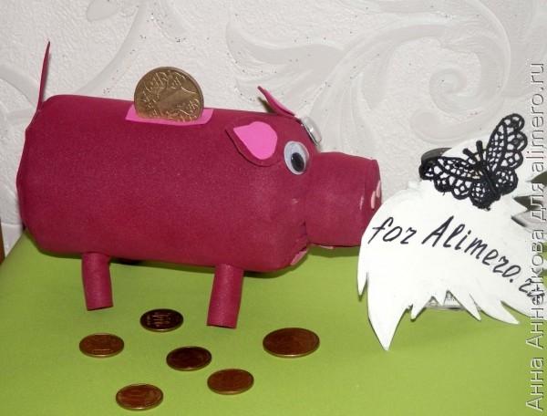 Свинья-копилка из фоамирана. Мастер-класс