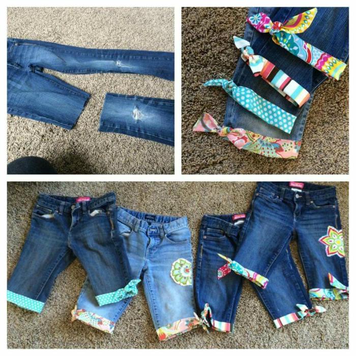 Делаем  джинсы все что можно
