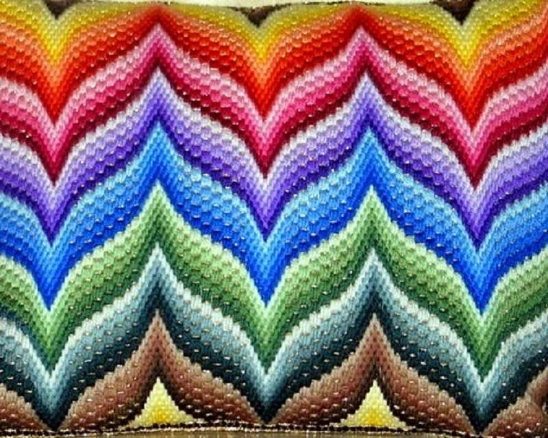 Объемная итальянская вышивка…