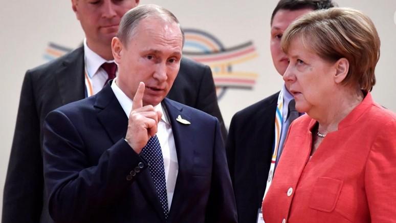 Владимир Путин загнал Меркел…