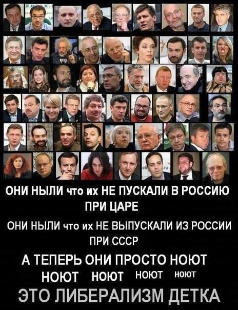 Пора страну очистить  Страну от либеральной дряни иначе она обгадит Всю Россию!