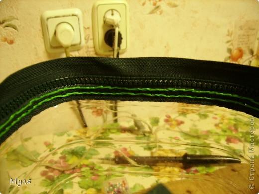 Мастер-класс, Вязание крючком, : Контейнер для мелочей и косметичка. Нитки . Фото 6
