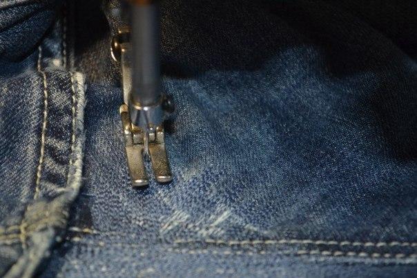 Штопаем джинсы. Мастер-класс