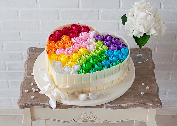 Фото торта цветков