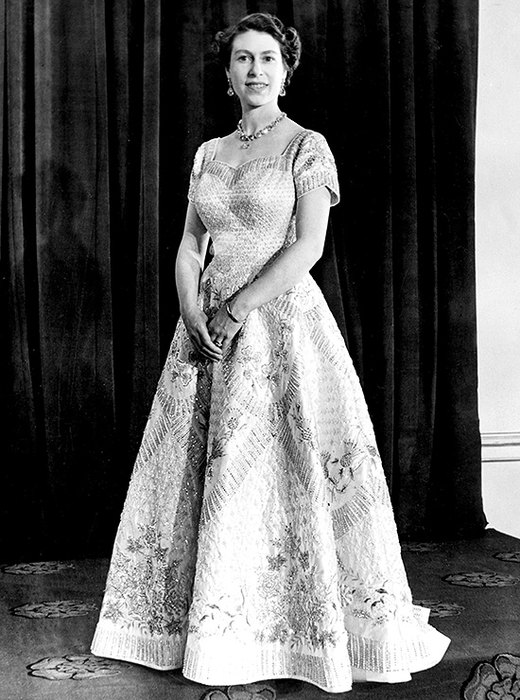 Платье длякоронации Елизаветы II