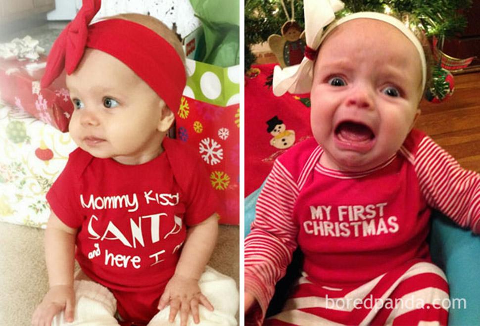 Новогодняя фотосессия с ребенком: ожидания и реальность