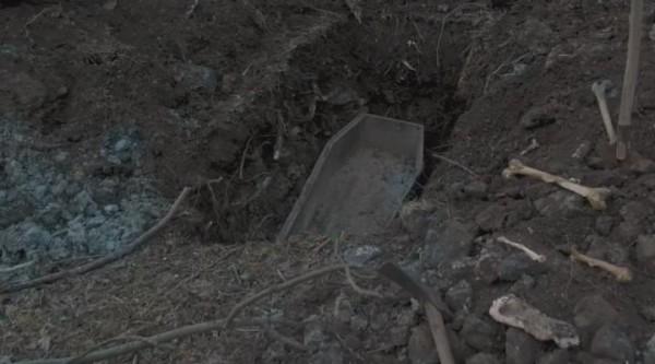 Эксгумации массового захоронения в славянске