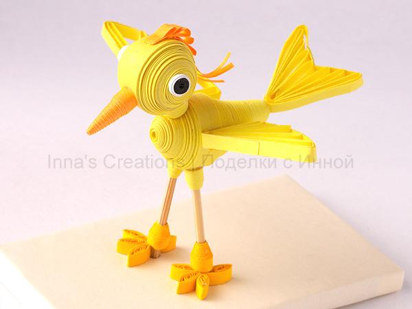 Объемные поделки птиц из бумаги