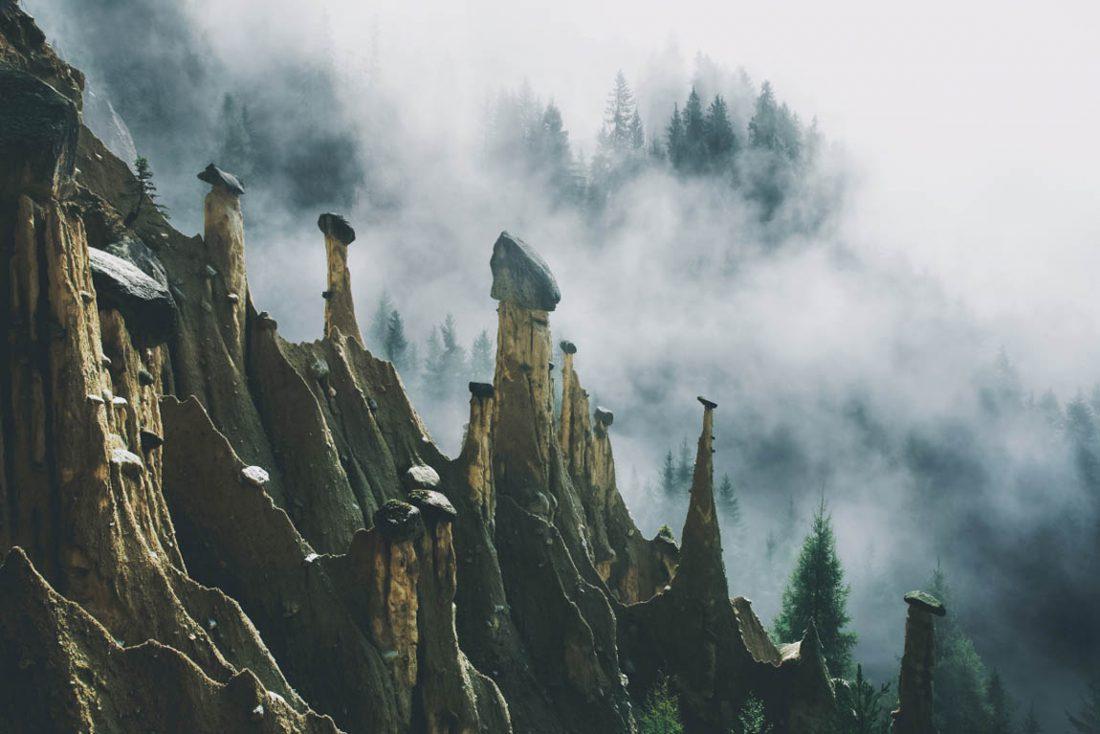 Инопланетный пейзаж в итальянских Альпах