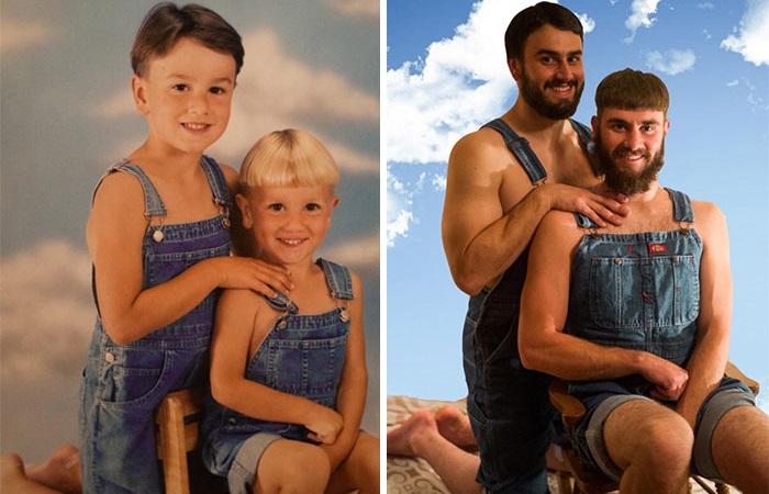 20 трогательно-юмористических фотографий о дружбе, прошедшей испытание временем