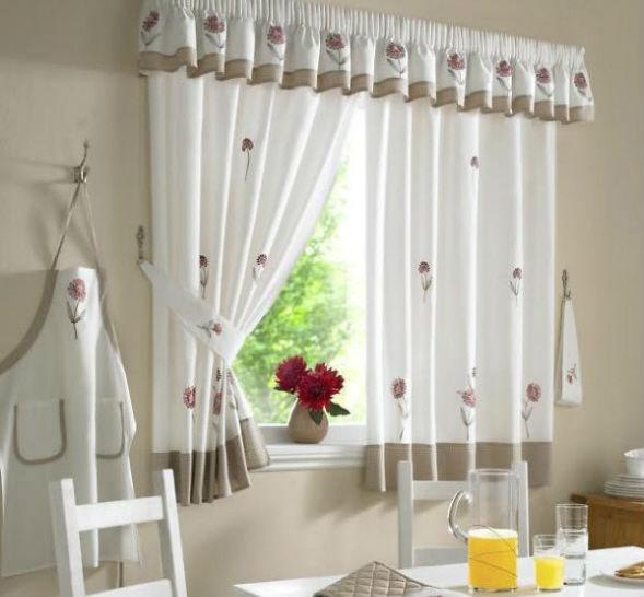 Занавески и шторы для кухни своими руками