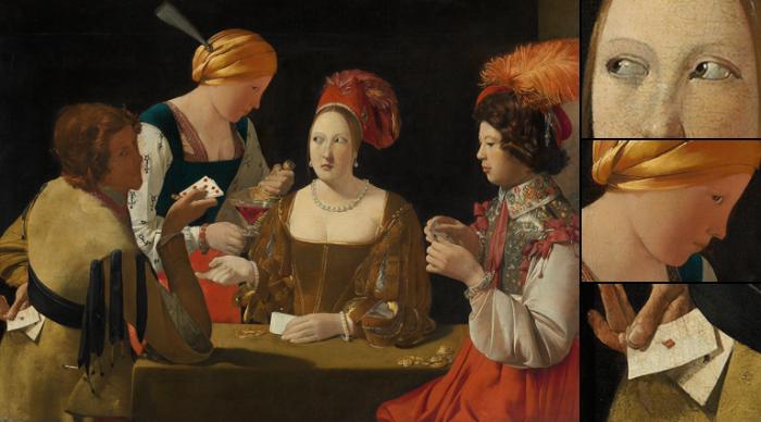 «Шулер с бубновым тузом»: Как художник XVII века проставлял увлечение вином, женщинами и играми