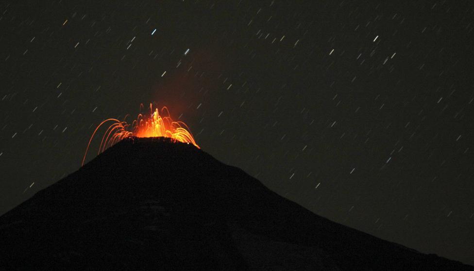 Неугомонный вулкан Вильяррика в Чили