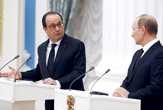 Кремль подтвердил отмену встречи Путина с французским президентом