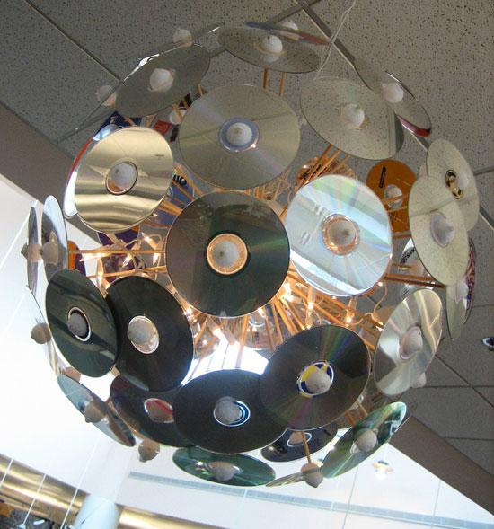 Диско-шар из СД диск, своими руками, сделай сам