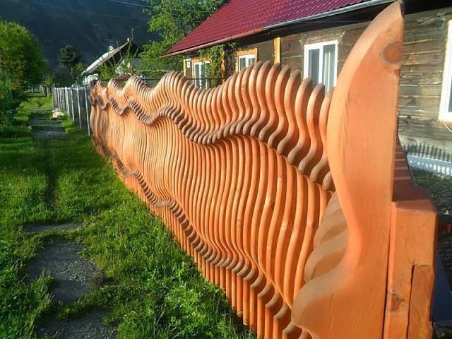 Деревянный забор украсит любой двор!