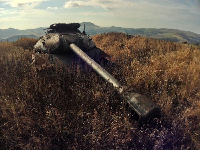 Советский танк 1950-х годов на острове Шикотан. | Фото: nlo-mir.ru.