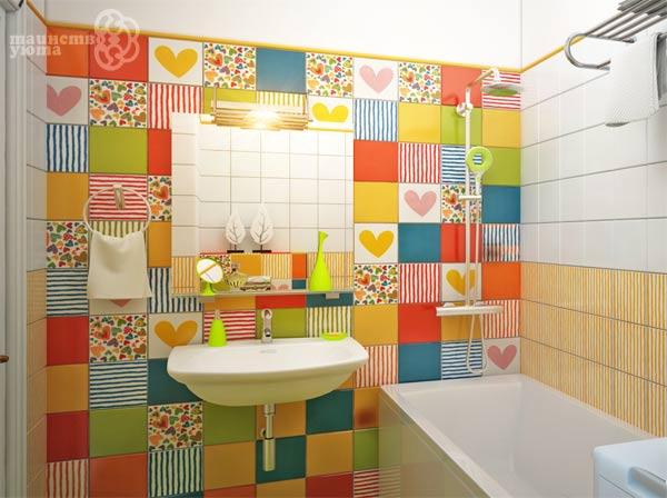 Раскрасить плитку в ванной