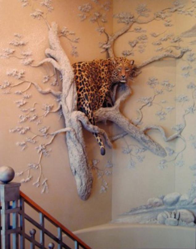 Как на стенах сделать объемные рисунки гипсом