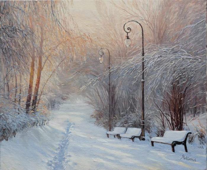 зимние пейзажи Ольга Дидык - 06