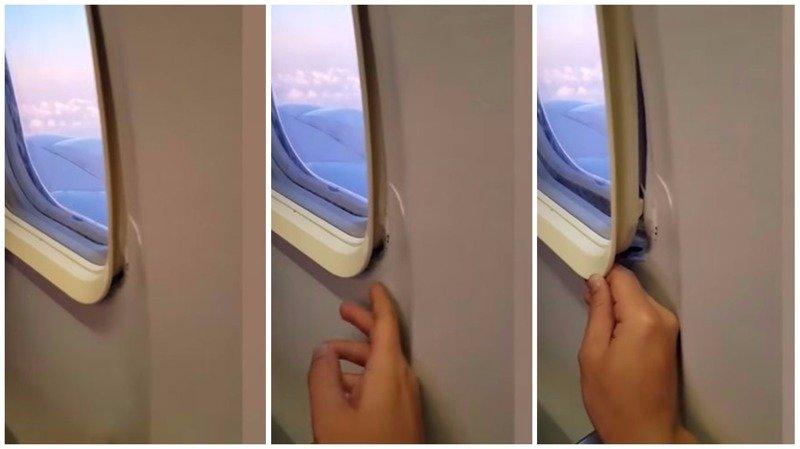 """""""Мне стоит волноваться?"""": авиапассажир показал неисправный иллюминатор"""