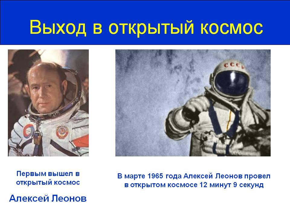 Пропустили! Первый человек в открытом космосе - наш!