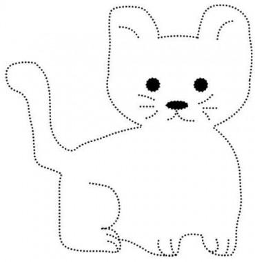 вышивка по картону котик