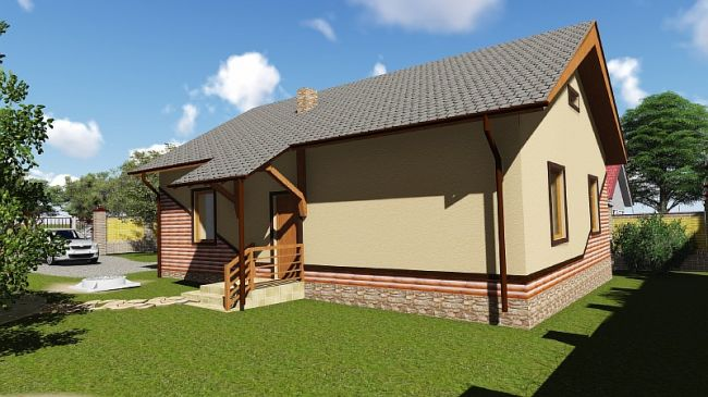 Строительство дома по проекту «Бюджетный 1»