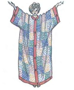 Сшить простой халат своими руками
