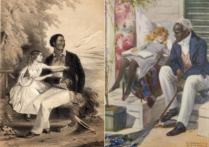 *Хижина дяди Тома*. Иллюстрации 1852 года | Фото: nationalera.files.wordpress.com и globallookpress.com