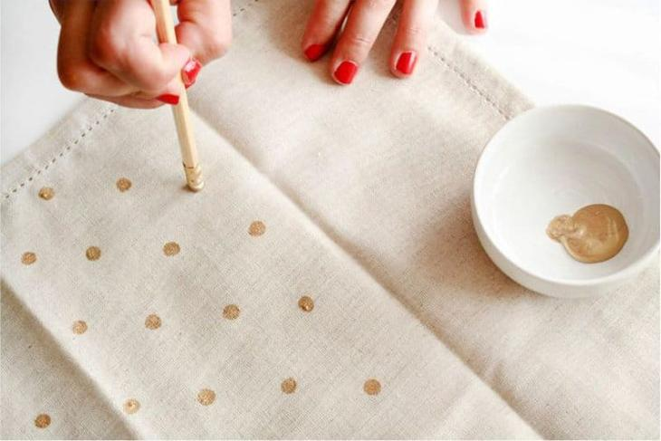 Декор кухонного полотенца своими руками