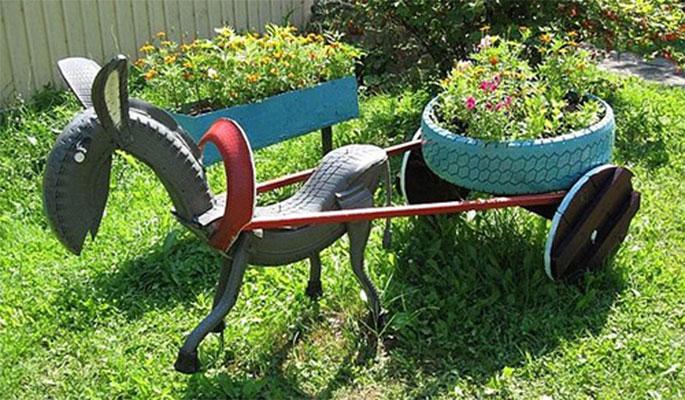 идеи для дачи - подделка лошади