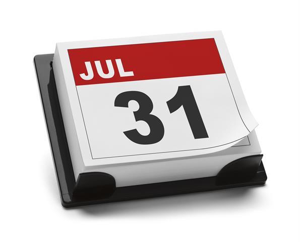 31 июля день календаря