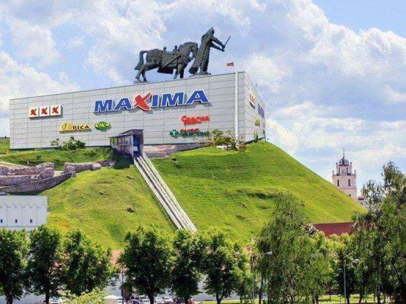 Вот как шутят литовцы: :) Вильнюс, башня Гедиминаса, литва