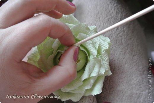 Мастер-класс Свит-дизайн Моделирование конструирование Роза для Колибри Бумага гофрированная фото 12