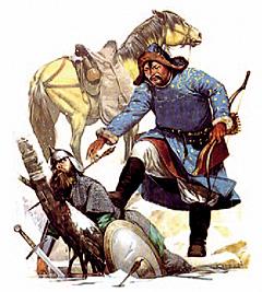 Сжигая за собой города и деревни, монголы добрались до Владимиро- Суздальского княжества